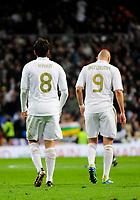 20120128: MADRID, SPAIN - Santiago bernabeu Stadium. Madrid. Spain. Football match between Real Madrid CF and  Real Zaragoza. BBVA League. In picture Kaka and Benzema<br /> PHOTO: CITYFILES