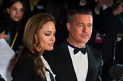 Angelina Jolie and Brad Pitt arriving for the 2014 EE British Academy Film Awards (BAFTA) held at the Royal Opera House, Bow Street, London, UK on February 16, 2014. Photo by Nicolas Genin/ABACAPRESS.COM