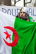 Paris, France. 22 Janvier 2011.Rassemblement Algerien Place de la Republique pour une Algerie democratique...Paris, France. January 22nd 2011..Gathering for democracy in Algeria......