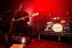 © Licensed to London News Pictures . 14/02/2013 . Manchester , UK . Peter Johnson on bass and Andy Hargreaves on drums . I Am Kloot perform at the Ritz in Manchester . Photo credit : Joel Goodman/LNP