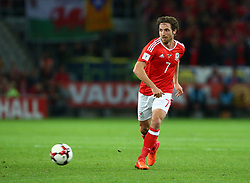 October 9, 2017 - Cardiff City, Walles, United Kingdom - Joe Allen of Wales .during FIFA World Cup group qualifier match between Wales and Republic of Ireland at the Cardiff City Stadium, Cardiff, Wales on 9 October 2017. (Credit Image: © Kieran Galvin/NurPhoto via ZUMA Press)
