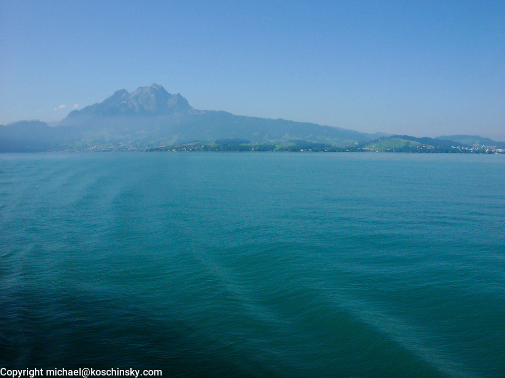 View of the Pilatus from Lace Lucerne, Switzerland
