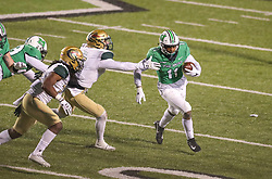 Dec 18, 2020; Huntington, West Virginia, USA; Marshall Thundering Herd tight end Xavier Gaines (11) runs for extra yards during the fourth quarter against the UAB Blazers at Joan C. Edwards Stadium. Mandatory Credit: Ben Queen-USA TODAY Sports