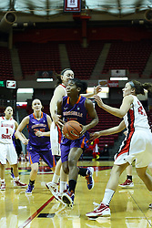 01 January 2012: Briyana Blair approaches the lane and basket  during an NCAA women's basketball game between the Evansville Purple Aces and the Illinois Sate Redbirds at Redbird Arena in Normal IL