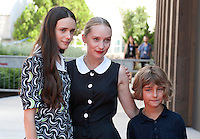 Stacy Martin, Mona Fastvold and Tom Sweet at the gala screening for the film The Childhood of a Leader at the 72nd Venice Film Festival, Saturday September 5th 2015, Venice Lido, Italy.