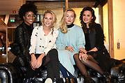 Persdag Nederlandse film Sneekweek in het hoofdkantoor van Gaastra, Amsterdam<br /> <br /> Op de foto:  Yootha Wong-Loi-Sin, Kimberly Klaver, Carolien Spoor en Holly Mae Brood