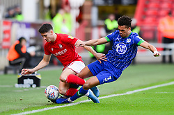 Antonee Robinson of Wigan Athletic challenges for the ball with Callum O'Dowda of Bristol City - Mandatory by-line: Dougie Allward/JMP - 27/10/2019 - FOOTBALL - Ashton Gate - Bristol, England - Bristol City v Wigan Athletic - Sky Bet Championship