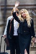 """American actress and model Amber Heard leaves the Royal Courts of Justice in central London on Tuesday, July 28, 2020.<br /> <br /> An article in the Sun describing Johnny Depp as a """"wife-beater"""" was """"one-sided"""" and """"not researched at all"""", the actor's lawyer told the High Court. In closing submissions for Mr Depp, David Sherborne said the paper acted as """"both judge and jury"""". Mr Depp is suing the newspaper's publisher and editor for libel, saying the allegation is """"completely untrue"""". (VXP Photo/ Vudi Xhymshiti)"""