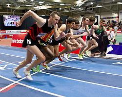 New Balance Indoor Grand Prix track meet: Men's 3000 meter, start