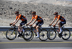 February 15, 2018 - Muscat, Oman - Illustration Roompot - Nederlandse Loterij during stage 3 of the 9th edition of the 2018 Tour of Oman cycling race, a stage of 179.5 kms between German University of Technology and Wadi Dayqah Dam on February 15, 2018 in Muscat, Sultanate of Oman, (Credit Image: © Panoramic via ZUMA Press)