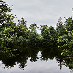 A pond at the outskirt of the village. Saint-Pierre-de-Frugie, France. July 12, 2019.