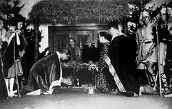 File photo dated 12/12/38 of Prince Philip of Greece (centre left, kneeling) performing as King Melchior in a nativity play at his public school, Gordonstoun, Elgin in Scotland. The Duke of Edinburgh has died, Buckingham Palace has announced. Issue date: Friday April 9, 2020.. See PA story DEATH Philip. Photo credit should read: PA Wire