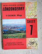 Discoverer series 1:50,000 ordnance survey map of Londonderry, Northern Ireland sheet 7
