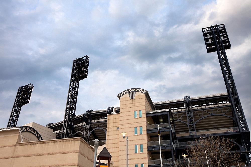 Pittsburgh, Pennsylvania, United States - April 27, 2011: PNC Park stadium at North Shore district.