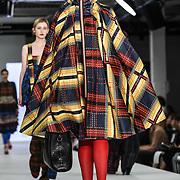 Designer Kirstie Johnson at the Best of Graduate Fashion Week showcases at the Graduate Fashion Week 2018, June 6 2018 at Truman Brewery, London, UK.