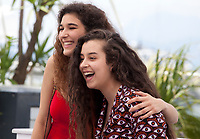 Inas Chanti and Souad Arsane at the A Genoux Les Gars film photo call at the 71st Cannes Film Festival, Thursday 10th May 2018, Cannes, France. Photo credit: Doreen Kennedy
