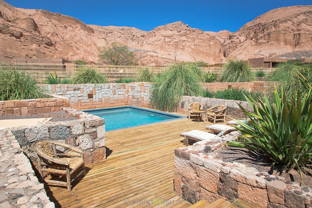 Swimming pool at Alto Atacama Hotel, San Pedro de Atacama, Atacama Desert, Chile, South America