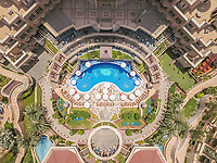 DUBAI, UNITED ARAB EMIRATES - 12 MAY 2016 : Aerial view of a luxury resort in Dubai.