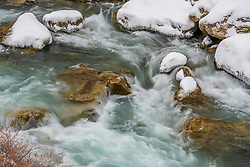 Winter Flow, Greys River, Wyoming