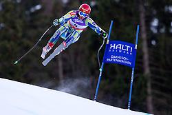 10.02.2011, Kandahar, Garmisch Partenkirchen, GER, FIS Alpin Ski WM 2011, GAP, Herren Abfahrtstraining, im Bild Rok Perko (SLO) takes to the air competing in the first men's downhill training run on the Kandahar race piste at the 2011 Alpine skiing World Championships, EXPA Pictures © 2011, PhotoCredit: EXPA/ M. Gunn