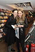 BETTINA VON HASE; ALBA ARIKHA, Book launch for Major/Minor by Alba Arikha. A  memoir about her adolescence in Paris published by Quartet Books. Daunts. London. 8 November 2011<br /> <br />  , -DO NOT ARCHIVE-© Copyright Photograph by Dafydd Jones. 248 Clapham Rd. London SW9 0PZ. Tel 0207 820 0771. www.dafjones.com.
