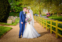 Church wedding at St. Peters in Benington, Hertfordshire