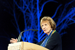 © Licensed to London News Pictures. 28/05/2016. Hay-on-Wye, Powys, Wales, UK. Joan Bakewell at The Hay Festival. Fine weather on the third day of the Hay Festival at Hay-on-Wye, Wales. Photo credit: Graham M. Lawrence/LNP