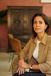 Maria Corina Machado in her sisters home in an upper class Caracas neighborhood. Machado is the vice president of Sumate, an organization that was instrumental in organizing the recall referendum against President Hugo Chavez.  Sumate recieved funding from the National Endowmen for Democracy.  Machado and others in Sumate are being investigated for conspiracy and treason.