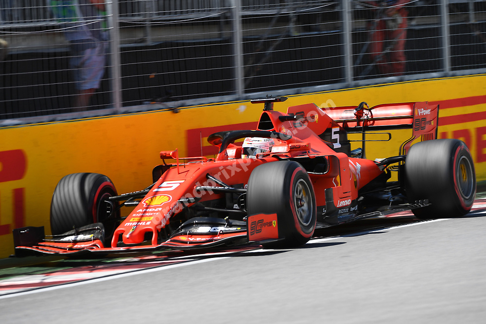 Sebastian Vettel (Ferrari) close to the wall during qualifying for the 2019 Canadian Grand Prix in Montreal. Photo: Grand Prix Photo