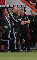Assistant manager Alan Knill (left)  & manager Chris Wilder (right) <br /> <br /> Photographer David Horton/CameraSport<br /> <br /> The Premier League - Bournemouth v Sheffield United - Saturday 10th August 2019 - Vitality Stadium - Bournemouth<br /> <br /> World Copyright © 2019 CameraSport. All rights reserved. 43 Linden Ave. Countesthorpe. Leicester. England. LE8 5PG - Tel: +44 (0) 116 277 4147 - admin@camerasport.com - www.camerasport.com