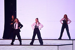 Leigh-Anne Pinnock, Jade Thirlwall, Perrie Edwards and Jesy Nelson of Little Mix perform on stage at the MTV Europe Music Awards 2018 held at the Bilbao Exhibition Centre, Spain.