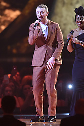 EDITORIAL USE ONLY.<br /><br />Sam Smith performs on stage at the Brit Awards at the O2 Arena, London.