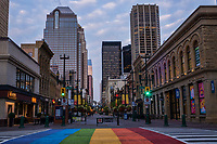 Rainbow Crossing, Stephen Avenue Walk, Morning