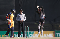 Neil Botha of Boland sends down a delivery during the Africa T20 cup pool D match between Boland and Gauteng held at the Boland Park cricket ground in Paarl on the 25th September 2016.<br /> <br /> Photo by: Shaun Roy/ RealTime Images