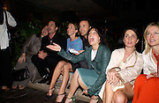 Helga Ungurait, Eric McCormack, Sam Taylor Wood, David Furnish, Sharleen Spiteri, ? and Lady Helen Taylor, Evening at Sanderson, 3 June 2003. © Copyright Photograph by Dafydd Jones 66 Stockwell Park Rd. London SW9 0DA Tel 020 7733 0108 www.dafjones.com