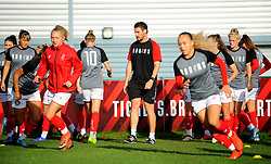 Bristol City Women warm up prior to kick-off- Mandatory by-line: Nizaam Jones/JMP - 27/10/2019 - FOOTBALL - Stoke Gifford Stadium - Bristol, England - Bristol City Women v Tottenham Hotspur Women - Barclays FA Women's Super League