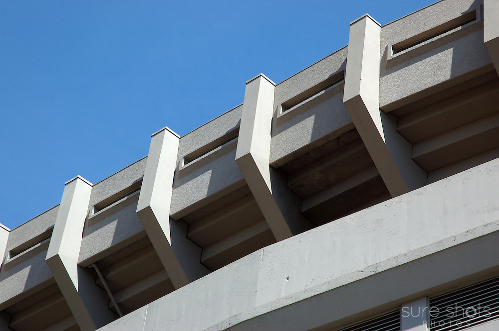 A portion of the roof detail near the front of old Yankee Stadium.  Photo taken June 2008, in the final season at the stadium.