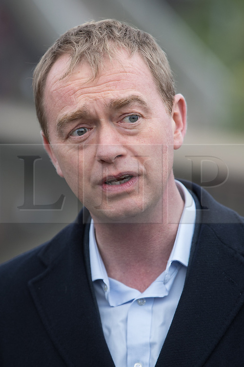 © Licensed to London News Pictures . 14/02/2017 . Stoke-on-Trent , UK . Lib Dem leader TIM FARRON joins candidate DR ZULFIQAR ALI campaigning in the Stoke Central by-election . Photo credit : Joel Goodman/LNP