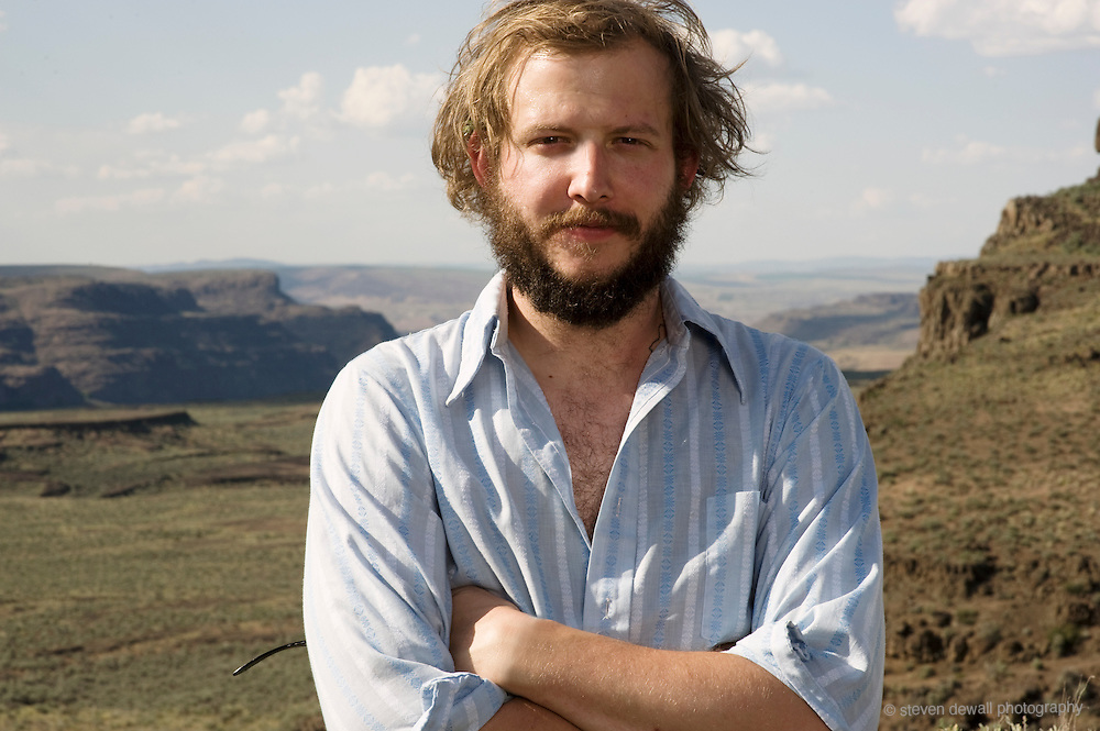 Bon Iver photographed backstage during Sasquatch! Music Festival in 2009.