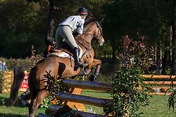 Traisnel Lindsay (CAN) - Ulysse de Rubercy<br /> Cross country 6 years old horses<br /> Mondial du Lion - Le Lion d'Angers 2014<br /> © Dirk Caremans<br /> 18/10/14