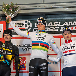 21-12-2019: Cycling : Waaslandcross Sint Niklaas: Mathieu van der Poel(NED) wins in Sint Niklaas, ahead of Quinten Hermans(BEL) and Tom Pidcock(GBR)