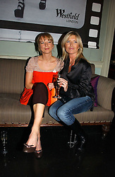 Left to right, DJ SARA COX and actress TINA HOBLEY at a party hosted by Westfield and the British Fashion Council to celebrate Fashion Forward held at Home House, 20 Portman Square, London W1 on 30th January 2007.<br /><br />NON EXCLUSIVE - WORLD RIGHTS