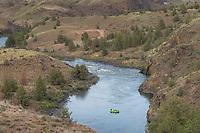 Rafting on John Day River near Burnt Ranch Oregon