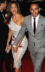 Nicole Scherzinger & Lewis Hamilton, The British Fashion Awards 2014, The London Coliseum, London UK, 01 December 2014, Photo By Brett D. Cove © Licensed to London News Pictures. 02/12/2014. Brett D Cove/PIQ/LNP