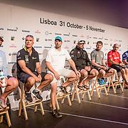 © Maria Muina I MAPFRE. Skippers press conference in Lisbon. Rueda de prensa de patrones en Lisboa.