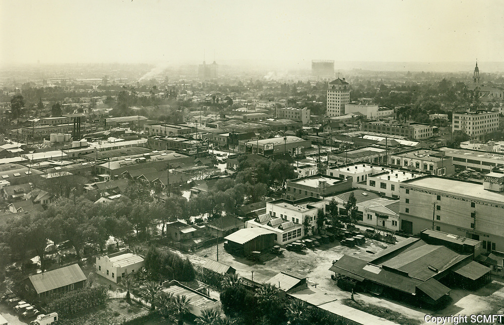 1929 Looking southwest from Hollywood Blvd. & Vine St.
