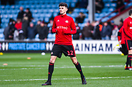 Tom Flanagan of Sunderland (12) warming up during the EFL Sky Bet League 1 match between Scunthorpe United and Sunderland at Glanford Park, Scunthorpe, England on 19 January 2019.