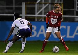 Ebony Salmon of Bristol City Women is marked by Anita Asante of Aston Villa Women - Mandatory by-line: Ryan Hiscott/JMP - 13/01/2021 - FOOTBALL - Twerton Park - Bath, England - Bristol City Women v Aston Villa Women - FA Continental Cup quarter final