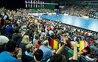 LEIPZIG (Duitsland) - overzicht zaal Arena Leipzig. WK zaalhockey. FOTO KOEN SUYK