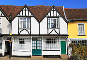 Historic buildings on Market Hill, Woodbridge, Suffolk, England, UK